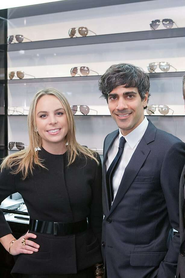 Taylor Olson, a Dior executive, and Jeremy Stoppelman, CEO of Yelp, at the Dior Homme boutique in San Francisco on Nov. 8, where Details magazine fashion director Eugene Tong opined on men's fashion trends, and where the crowd celebrated the tech titan's upcoming birthday. Photo: Drew Altizer Photography