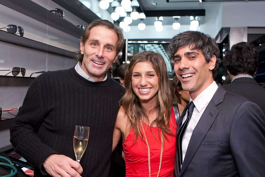Paul Pelosi Jr, Juliana Karma, and Yelp CEO Jeremy Stoppelman at the Dior Homme party for Details magazine on Nov. 8 in San Francisco. Photo: Drew Altizer Photography