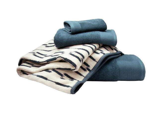 Nate Berkus Collection at Target  Fashion Bath Ikat Towels in Ultramarine - $5.99-9.99 Photo: Target