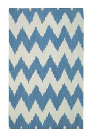 Wild Chev in Grecian Blue. From Genevieve Gorder's Signature Rug Collection for Capel Rugs.  Photo by www.capelrugs.com