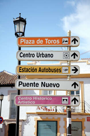 In European towns, big and small, helpful signs direct drivers to the main sights. Photo: Dominic Bonuccelli, Ricksteves.com
