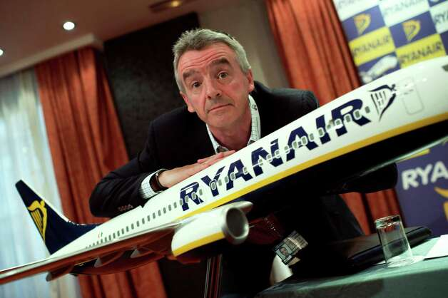 "Ryanair CEO Michael O'Leary's latst comment is that airplane ""seatbelts  don't matter"" and people should be allowed to stand througout flights.  Click on for some of O'Leary's other attention-getting statements. Photo: DANI POZO, AFP/Getty Images / 2012 AFP"