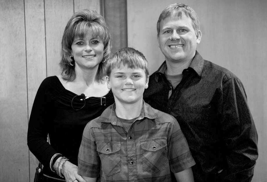 "Todd, Sonja and Colton Burpo. Todd Burpo (with Lynn Vincent) wrote ""Heaven is for Real"" about Colton's near-death experience during an emergency appendectomy. Photo: JM PhotoArt"