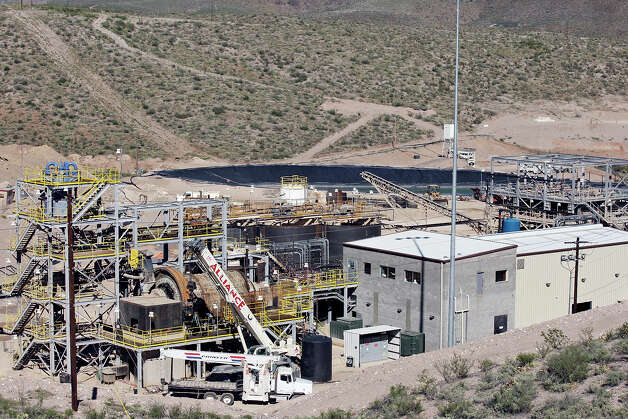 A view of the Rio Grande Mining Co. Shafter Silver Mine processing plant on the mine site Oct. 19, 2012 in Shafter, Tx. Photo: Edward A. Ornelas, San Antonio Express-News / © 2012 San Antonio Express-News