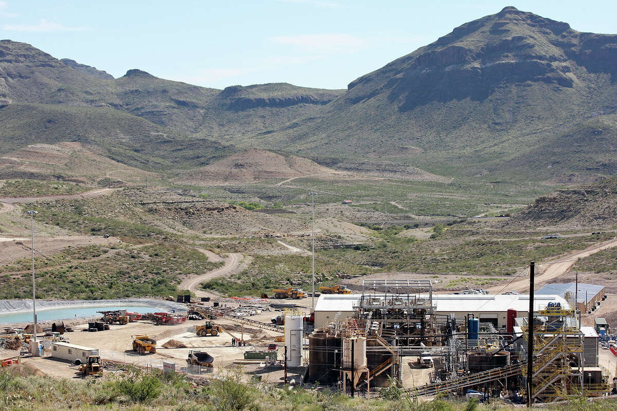 A view of the Rio Grande Mining Co. Shafter Silver Mine processing plant on the mine site Oct. 19, 2012 in Shafter, Tx.