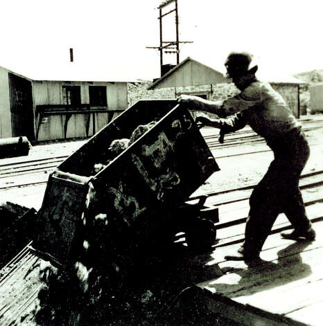 Copy photo, Oct. 19, 2012, of a worker at the Shafter, Tx. silver mine site. Photo: COURTESY PHOTO, San Antonio Express-News / © 2012 San Antonio Express-News