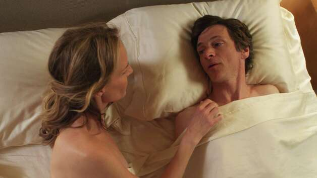 "Helen Hunt as Cheryl Cohen and John Hawkes as Mark O'Brien in ""The Sessions."" (Courtesy of Fox Searchlight Pictures/MCT) Photo: McClatchy-Tribune News Service"