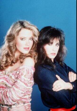 "Where much of it began, on ""General Hospital"" with Demi Moore (R) playing Jackie Templeton in the '80s. She's pictured with Janine Turner.  Photo: File"