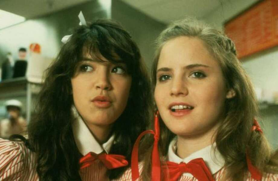"Jennifer Jason Leigh(R) was another famous '80s actress, pictured in ""Fast Times at Ridgemont High,"" which came out in 1982 when Leigh was 20. She starred with Phoebe Cates (L).  Photo: File"