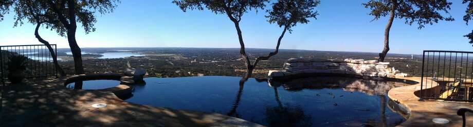 An infinity pool that offers a view of Canyon Lake was added to the home in 2006. (San Antonio Express-News)