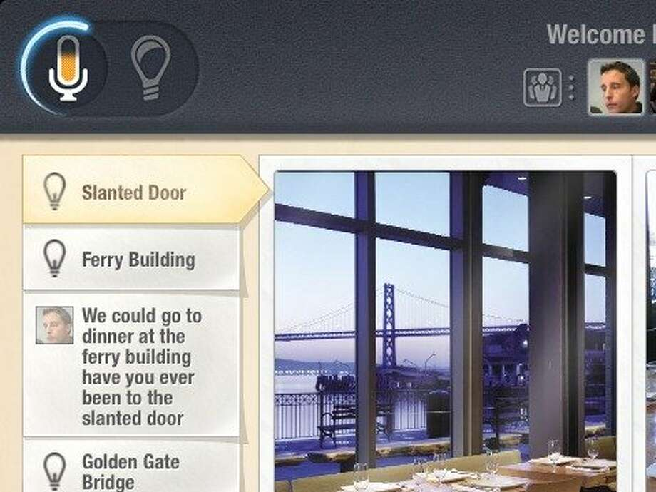 Relevant information pops up on panels on the screen. Photo: Expect Labs