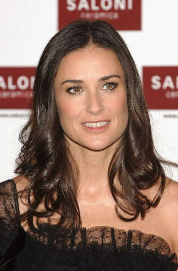 "Demi Moore in 2006, during the launch of the ""Saloni Ceramic Collection"" in Madrid. Whatever that was.  Photo: Carlos Alvarez, Getty Images / 2006 Getty Images"