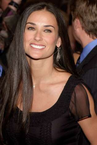 "Demi Moore in 2002, at the opening of the play ""Elephant Man."" Photo: Lawrence Lucier, Getty Images / Getty Images North America"