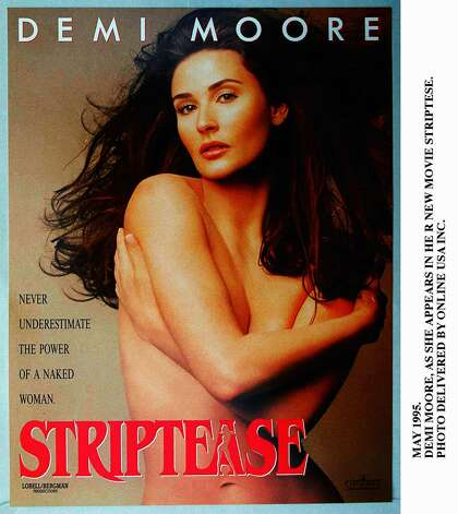 """Striptease"" ad.  Photo: Paramount Pictures, Getty Images / Getty Images North America"