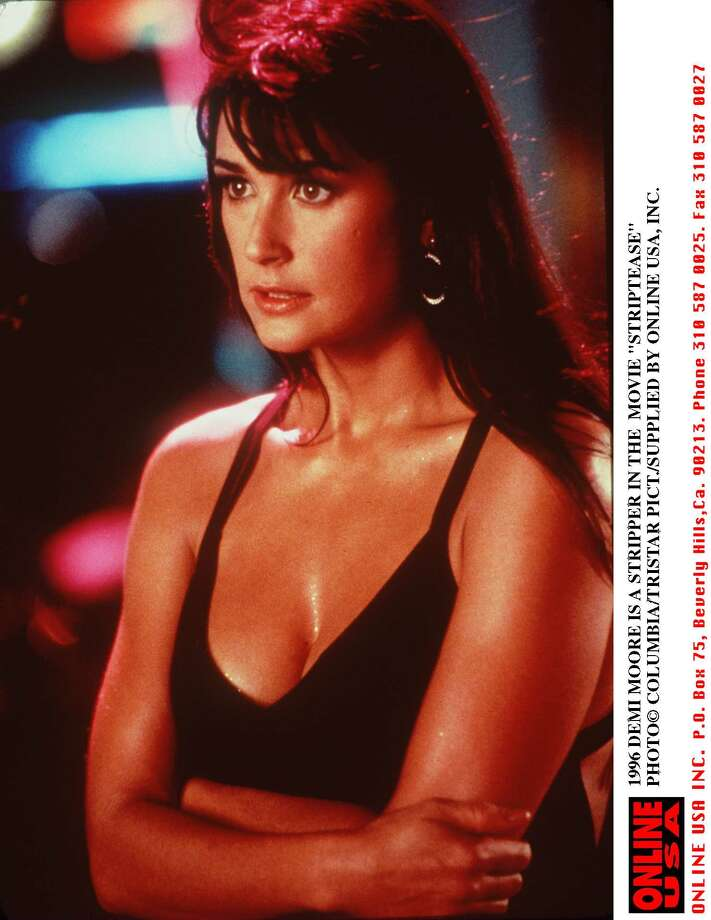 "After starring in ""Indecent Proposal"" with Robert Redford and ""Disclosure"" with Michael Douglas, Demi Moore shed her clothes for the 1996 movie ""Striptease."" It got the Razzie award for worst picture of the year.  Photo: Getty Images / Getty Images North America"