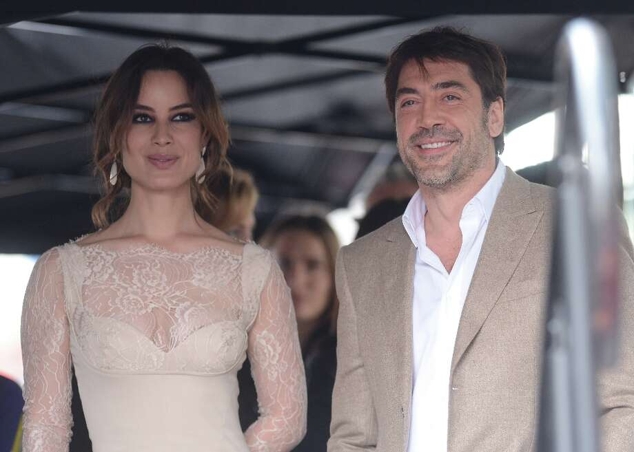 Actress Berenice Marlohe and actor Javier Bardem attend the Walk Of Fame ceremony as Javier Bardem is honored with a star on the Hollywood Walk Of Fame held on November 8, 2012 in Hollywood, California. Photo: Jason Merritt, Getty Images / 2012 Getty Images