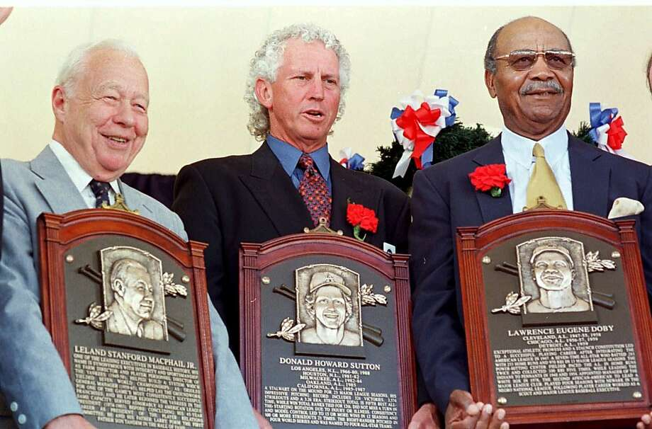 Lee MacPhail, above, joined his father, Larry, in baseball's Hall of Fame in 1998. Photo: David Jennings