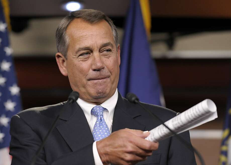 House Speaker John Boehner, R-Ohio, seems to suggest that limiting other tax breaks and loopholes could aid the economy. Photo: Susan Walsh, Associated Press