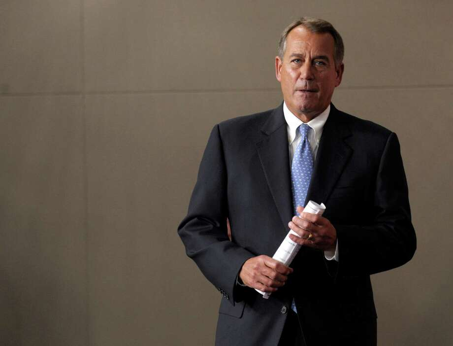 """House Speaker John Boehner, R-Ohio, said """"it's just time to get the job done,"""" in regard to President Barack Obama taking the lead in coming up with a comprehensive immigration plan. Photo: Susan Walsh, Associated Press / AP"""