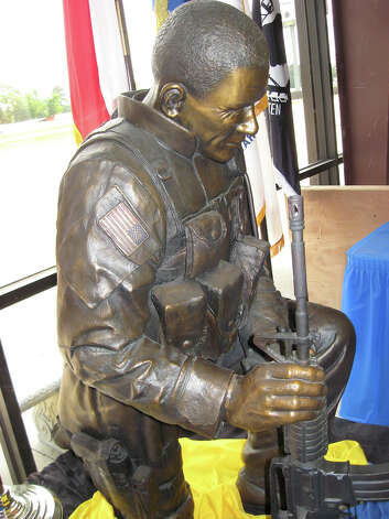 This statue, named Gratitude, will be placed at the center of Vidor's Fields of Freedom memorial park. Amy Moore/The Enterprise