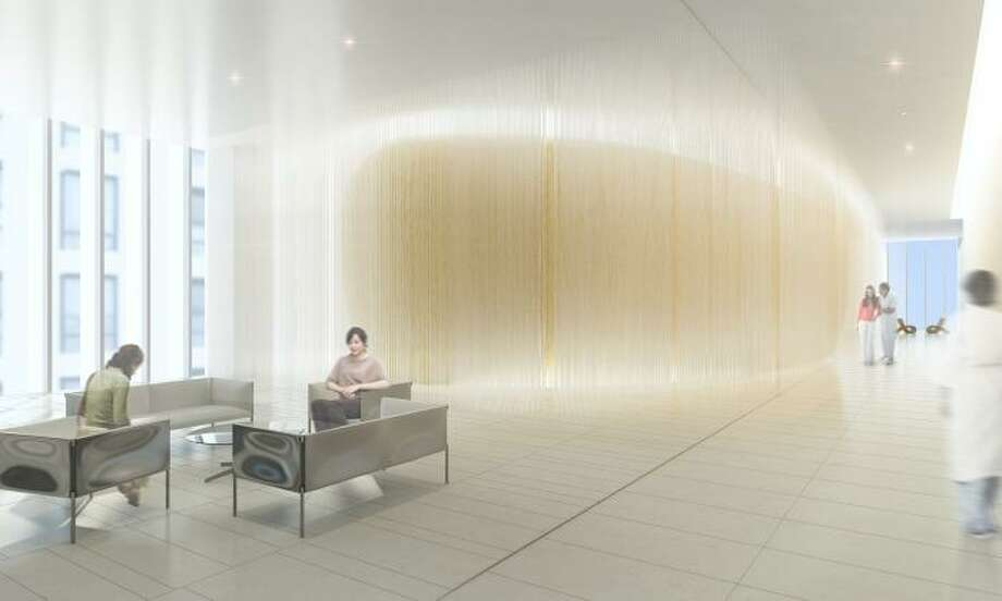 """Design in Concept winner:Bucheon Clinic, Bucheon, South Korea, by NBBJ. The clinic caters to women's healthcare needs, specializing in childbirth. It's goal is to create a spa-like environment. """"The building's interior design conveys a sense of light and openness, reinforcing the hospital's branding and image of being connected to nature while providing an atmosphere of comfort and healing,"""" according to the contest writeup. """"Clarity of movement and continuity of experience guide the design from entry to patient room with special attention to detail. Key experiences are emphasized with form, materiality and lighting with focus on the needs of mothers and babies. Access to natural light and views is provided throughout the building with floor to ceiling transpaent and fritted glazing. A simple, neutral palette of soft whites and deliberate color accents reinforce way-finding principles and ceates an overall atmosphere of inspiration, learning and celebration."""" Photo: NBBJ"""