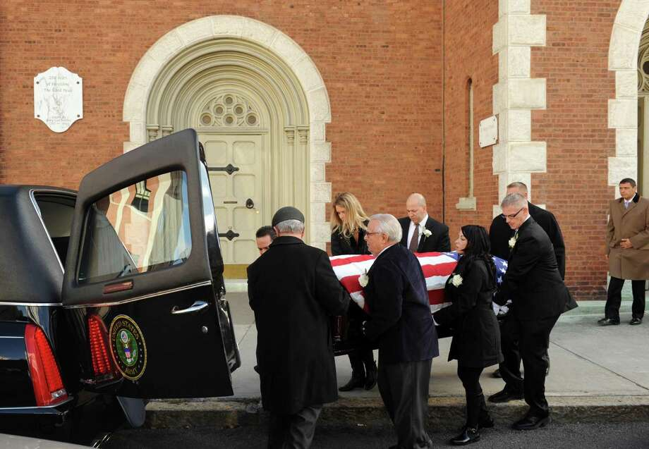 "Funeral Mass for Sal ""Sammie"" DiCarlo, longtime proprietor of DiCarlo's Gentlemen's, at St. Mary's Church in Albany, NY Friday Nov. 9, 2012. (Michael P. Farrell/Times Union) Photo: Michael P. Farrell"
