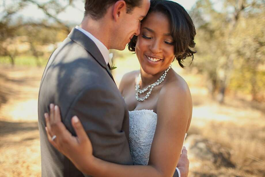 Egan Brinkman and Katherine Williams were wed in Napa Valley after a romance that included a stint when she was in Chicago and he was in the Wine Country. Photo: Love Is A Big Deal
