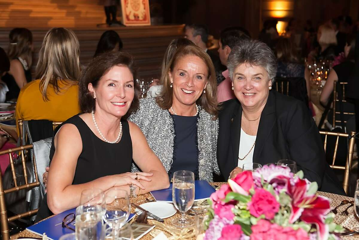 San Francisco s chapter of the Junior League, whose annual fashion show fundraiser often garners frothy headlines, turned 100 and celebrated its more substantive achievements during the past century an estimated 6 million volunteer hours and $24 million in financial support that has gone to community efforts at a dinner at City Hall on Nov. 1. Here, from left to right: Courtney Rice (JLSF President 1997-1998), Beppie Cerf (JLSF President 1992-993), Sally Coates (JLSF President 1995-1996.)