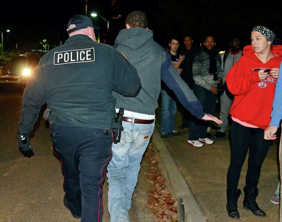 Police got involved after University of Mississippi students started using racial epithets during a protest of President Barack Obama's re-election Tuesday. Photo: Thomas Graning, MBO / The Daily Mississippian