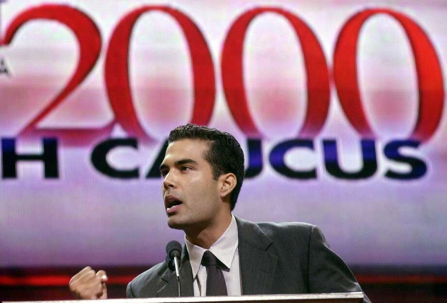 Addressing the Youth Caucus at the Republican National  Convention in Philadelphia in 2000.