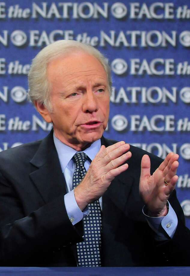 "In this Sunday, April 22, 2012, photo provided by CBS News Sen. Joseph Lieberman, I-Conn., Chairman of the Homeland Security and Governmental Affairs Committee, speak on CBS's ""Face the Nation"" in Washington. Lieberman spoke about the Secret Service scandal. (AP Photo/CBS News, Mary F. Calvert) Photo: Mary F. Calvert, Associated Press / CBS News"