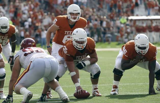 Texas Longhorns' Case McCoy took over quarterback duties in the fourth quarter against Iowa State at Darrell K. Royal Stadium in Austin on Saturday, Nov. 10, 2012. Texas defeated Iowa State, 33-7. (Kin Man Hui / San Antonio Express-News)
