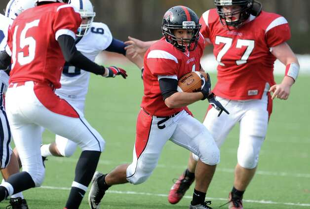 Scenes from the Fairfield Warde football game against Staples Saturday, Nov. 10, 2012 at Fairfield Warde High School. Photo: Autumn Driscoll / Connecticut Post