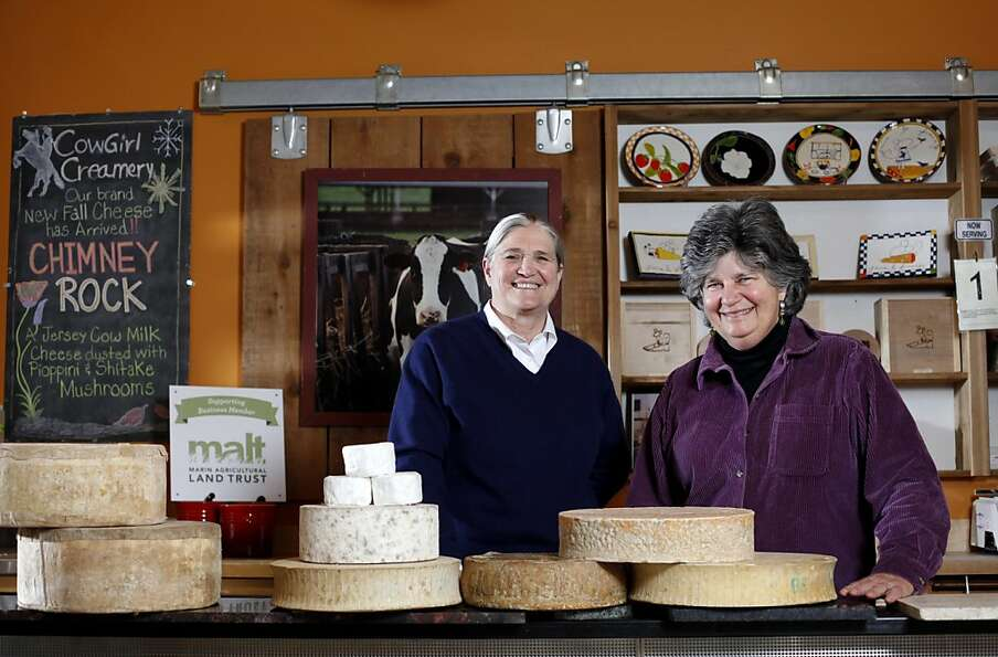 Peggy Smith (left) and Sue Conley founded Cowgirl Creamery in Point Reyes in 1997.