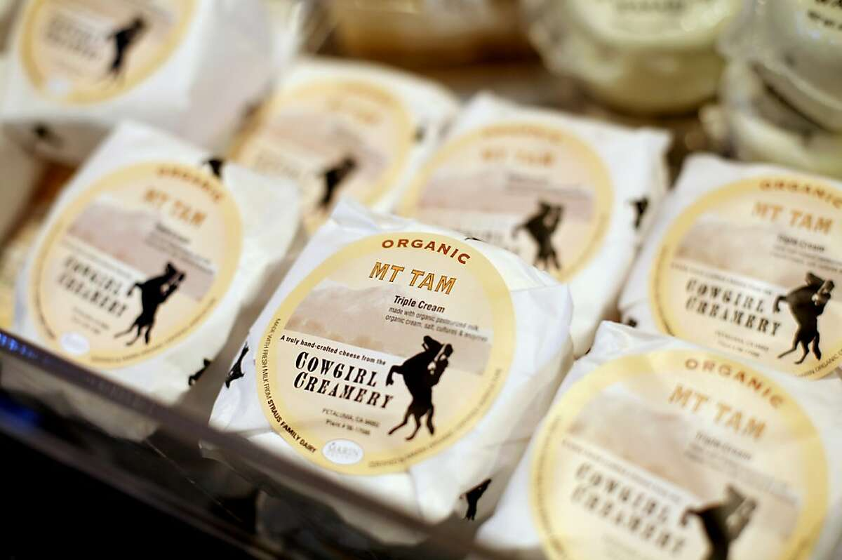 Cowgirl Creamery's Mt. Tam cheese for sale at the barn, their original location in Point Reyes Station, Calif., Monday, October 29, 2012.