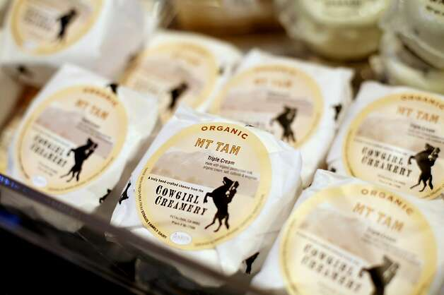 Cowgirl Creamery's Mt. Tam cheese for sale at the barn, their original location in Point Reyes Station, Calif., Monday, October 29, 2012. Photo: Sarah Rice, Special To The Chronicle