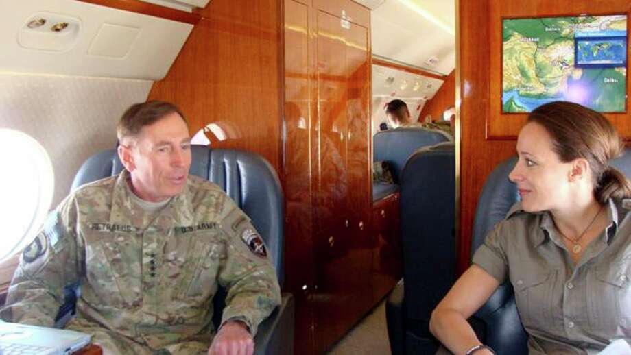 David Petraeus, former Central Intelligence Agency director, traveled to Afghanistan with his biographer, Paula Broadwell, in June 2011. Photo: COMMAND SGT. MAJ. MARVIN L HILL, HO / COMMAND SGT. MAJ. MARVIN L HILL