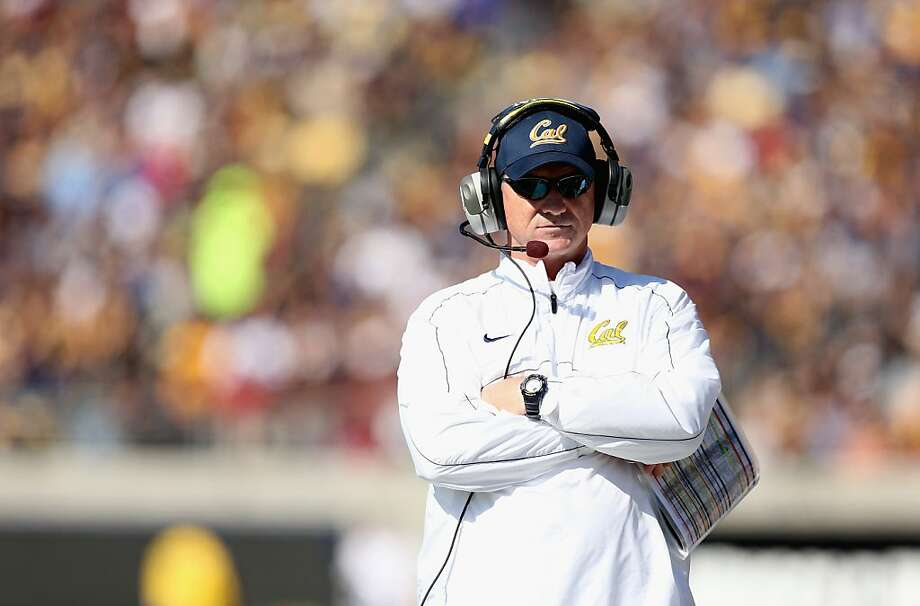 California Golden Bears head coach Jeff Tedford walks the sidelines during their loss against the Stanford Cardinal at California Memorial Stadium in October.  Tedford was fired Tuesday after guiding Cal to a 3-9 season. Photo: Ezra Shaw, Getty Images
