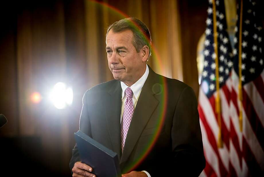 House Speaker John Boehner says he wants his rambunctious GOP crew to be less disputatious on key fiscal issues. Photo: Brendan Hoffman, Getty Images
