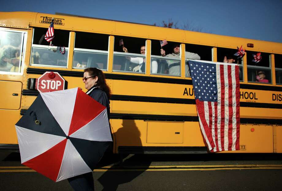 The Auburn School District entry is shown in the Auburn Veterans Day Parade. Photo: JOSHUA TRUJILLO / SEATTLEPI.COM