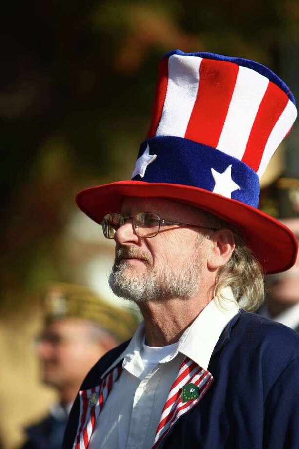 A participant marches in the Auburn Veterans Day Parade. Photo: JOSHUA TRUJILLO / SEATTLEPI.COM