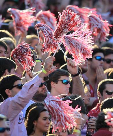 Alabama fans cheer during the first quarter of a college football game at Bryant-Denny Stadium, Saturday, Nov. 10, 2012, in Tuscaloosa.  ( Karen Warren / Houston Chronicle ) (Houston Chronicle)