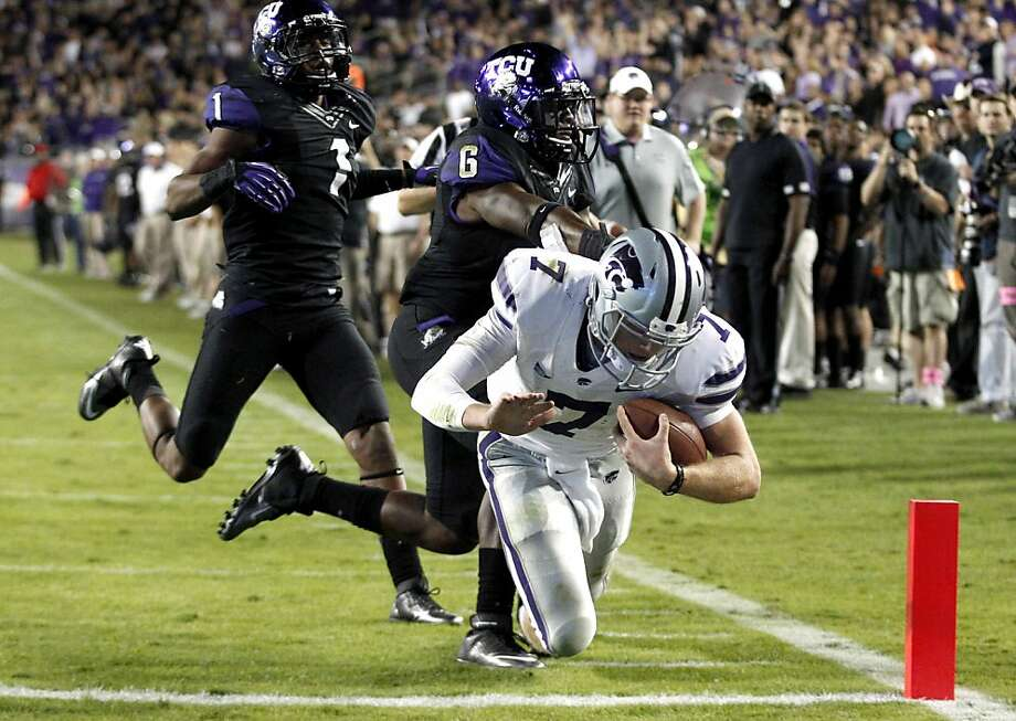 Kansas State quarterback Collin Klein gets past TCU for a touchdown in the third quarter of the Wildcats' 23-10 win. Photo: LM Otero, Associated Press