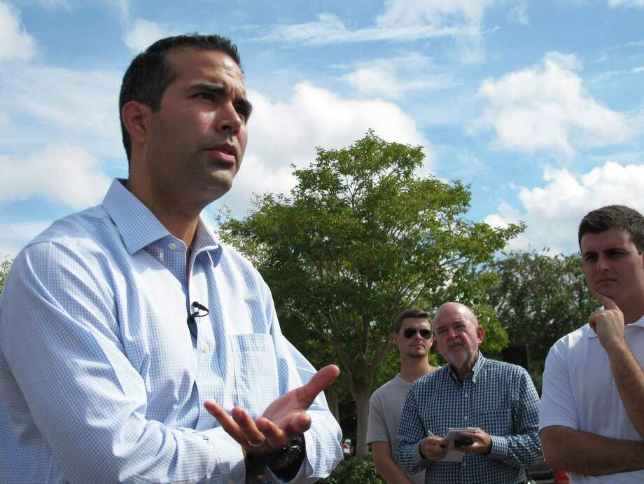 George P. Bush, speaking in September with Florida State University students in Tallahassee, Fla., is seen as the leader of the new generation of Texas Latino conservatives. Photo: Brendan Farrington, STF / AP