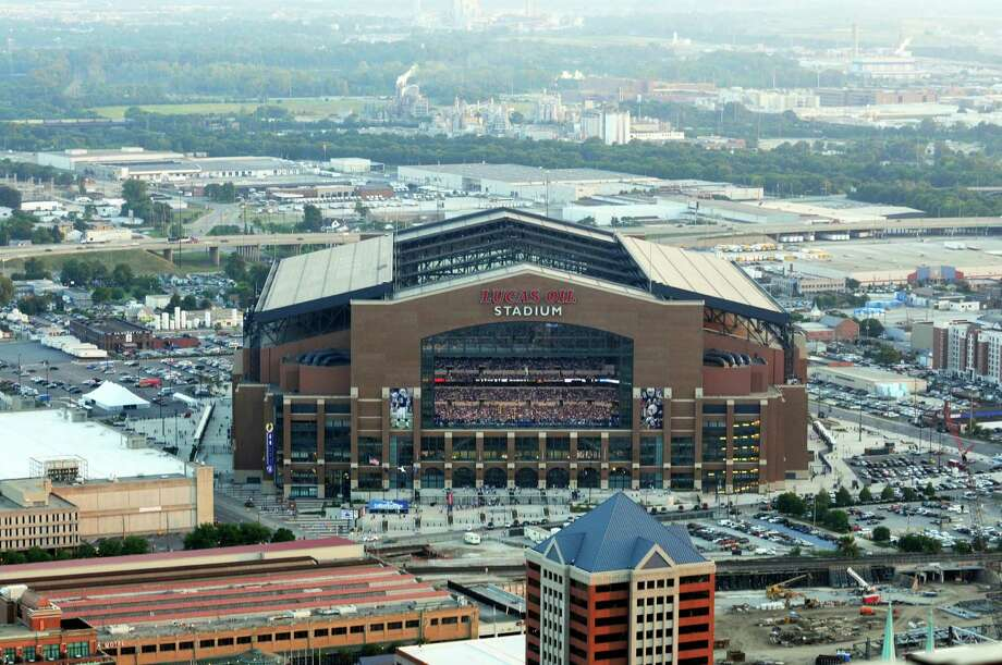 Financing for Lucas Oil Stadium in Indianapolis was the most expensive, the report found. Photo: Tom Strickland, FRE / AP2009