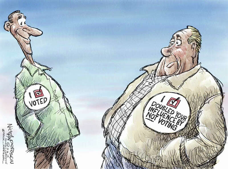 Election day (Nick Anderson / Houston Chronicle)