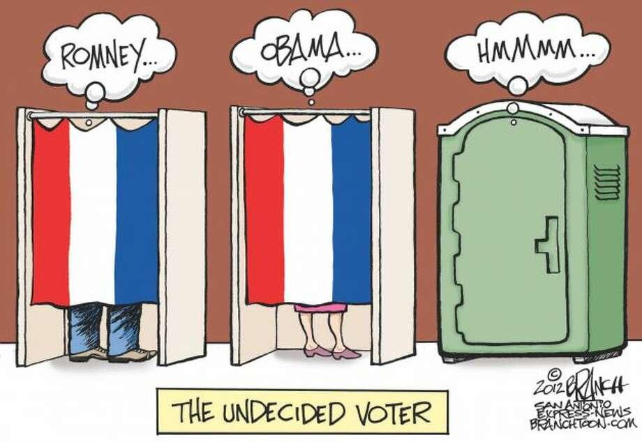 Undecided voter (John Branch / San Antonio Express News)
