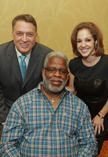 Marc Melcher, from left, Earl Campbell and Shayna AndrewsMarc Melcher, from left, Earl Campbell and Shayna Andrews Photo: Gary Fountain, Freelance / Copyright 2012 Gary Fountain.