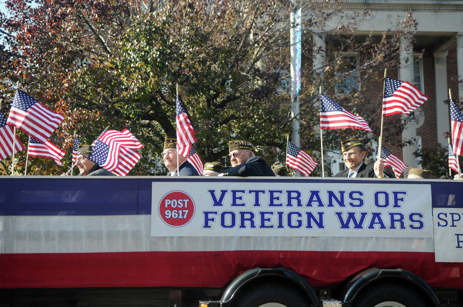 Stamford's Annual Veterans Day Parade from Hoyt Street to Veterans Park in Stamford, Conn., Nov. 11, 2012. Photo: Keelin Daly / Stamford Advocate Freelance