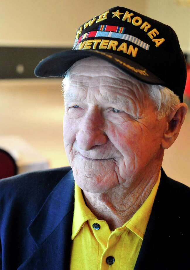 Jacques Laberdure, 85, a veteran of WWII and Korea, attends the American Letgion Post No. 60 dinner in Danbury Sunday, Nov. 11, 2012. Photo: Michael Duffy / The News-Times